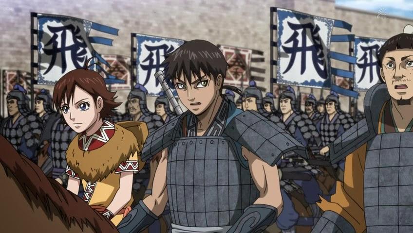 Znalezione obrazy dla zapytania kingdom 3 season anime